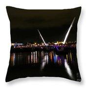 The Peace Bridge At Night Throw Pillow