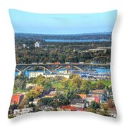 Peace Bridge Autumn 2013 Throw Pillow