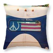 Peace Bus Throw Pillow