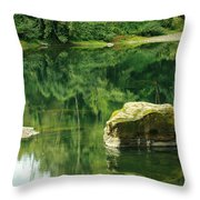 Peace By The River Throw Pillow