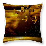 Peace Doves In The Desert Throw Pillow by Pepita Selles