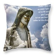 Peace I Leave With You Throw Pillow