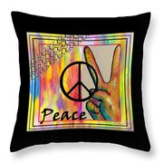 Peace In Every Color Throw Pillow