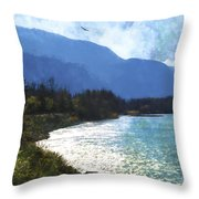 Peace In The Valley - Landscape Art Throw Pillow