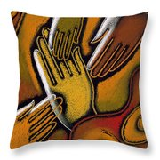 Peace Throw Pillow by Leon Zernitsky