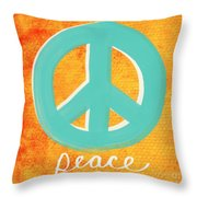 Peace Throw Pillow by Linda Woods