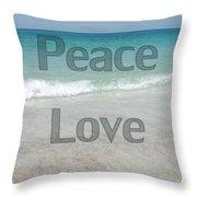 Peace Love Beach Throw Pillow