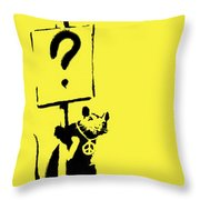 Peace / Love Protester  Throw Pillow