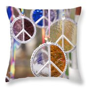 Peace Medals Throw Pillow
