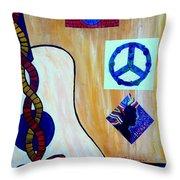 Peace - Music Throw Pillow