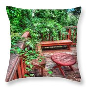 Peace Nature And Geometry Throw Pillow