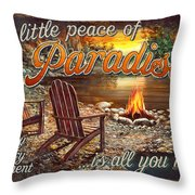 Peace Of Paradise Throw Pillow