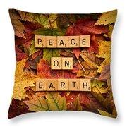 Peace On Earth-autumn Throw Pillow