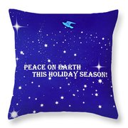 Peace On Earth Card Throw Pillow