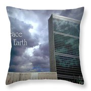 Peace On Earth - United Nations Throw Pillow