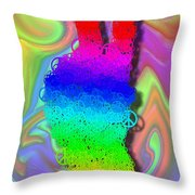 Peace On Hand Throw Pillow