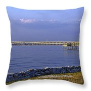 Peace River Bridge Throw Pillow