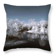 Peace River North Near Infrared Arcadia Florida Usa Throw Pillow