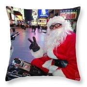 Peace Santa Throw Pillow