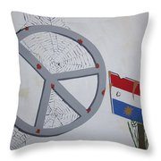 Peace Sells But Who's Buying Throw Pillow