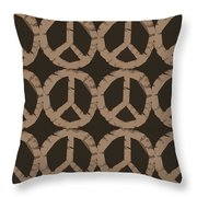 Peace Symbol Collage Throw Pillow