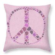 Peace Symbol Design - 42ct2b Throw Pillow
