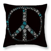 Peace Symbol Design - 87d Throw Pillow by Variance Collections