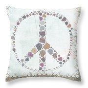 Peace Symbol Design - S76at02 Throw Pillow