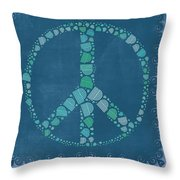 Peace Symbol Design - Tq19at02 Throw Pillow by Variance Collections
