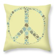 Peace Symbol Design - Y87d Throw Pillow by Variance Collections