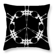 Peace Symbol Made Of Electric Guitars Throw Pillow