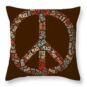 Peace Symbol Retro - 0103b  Throw Pillow