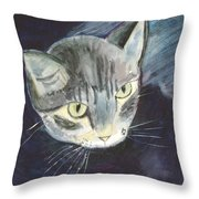 Peace The Cat Throw Pillow