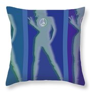 Peace Woman Repeat Throw Pillow