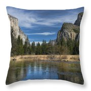Peaceful Afternoon In Yosemite Throw Pillow