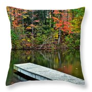 Peaceful Autumn Day Throw Pillow