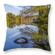 Peaceful Autumn Throw Pillow