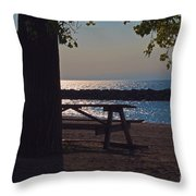 Peaceful Beach Throw Pillow