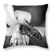Peaceful Bee Throw Pillow
