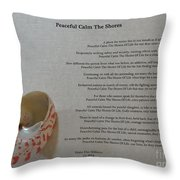 Peaceful Calm The Shores 2 Throw Pillow