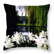Peaceful Canal Throw Pillow