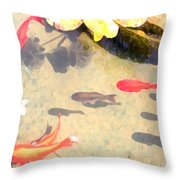 Peaceful Day In The Pond Throw Pillow