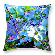 Peaceful Dogwood Spring Throw Pillow