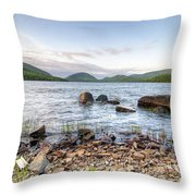 Peaceful Early Morning At Eagle Lake Throw Pillow