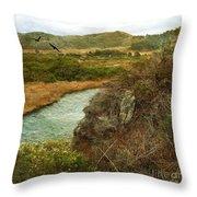 Peaceful Estuary In Carmel Throw Pillow