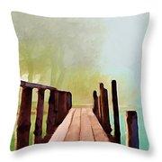 Peaceful Foggy Day Throw Pillow