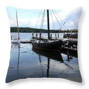 Peaceful Harbor Scene - Ct Throw Pillow