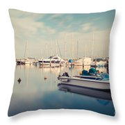 Peaceful Harbour Throw Pillow