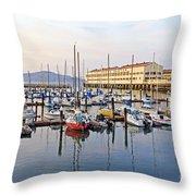 Peaceful Marina Throw Pillow