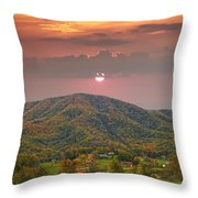 Peaceful Mountain Community Throw Pillow